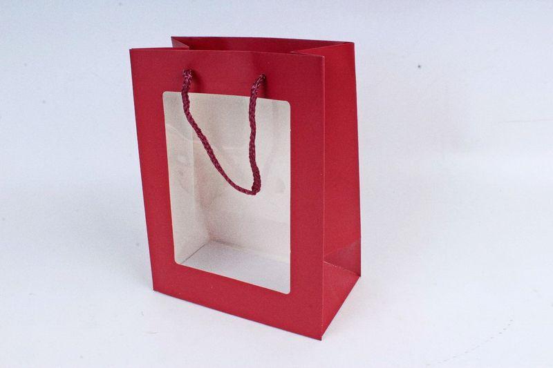 подарочные пакеты с прозрачным окошком