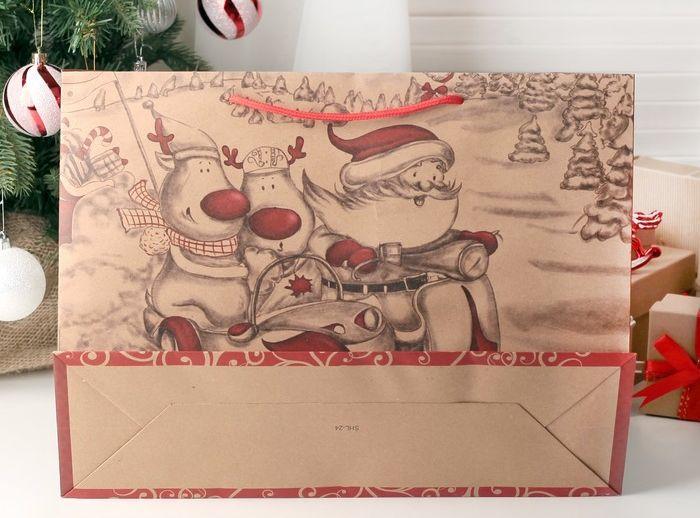печать новогоднего пакета