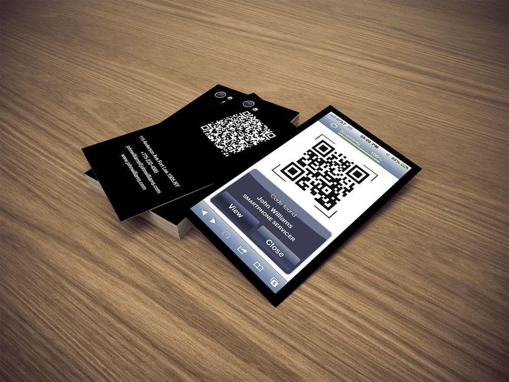 как сделать qr код для визитки